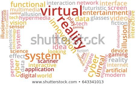 kelime · bulutu · sanal · gerçeklik · müzik · tıp · iletişim - stok fotoğraf © master_art