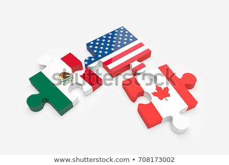 mexico and canada flags in puzzle stock photo © istanbul2009