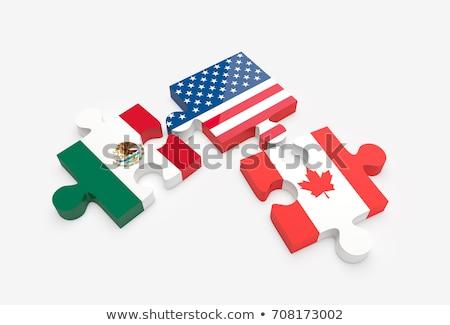 Stok fotoğraf: Meksika · Kanada · bayraklar · bilmece · vektör · görüntü
