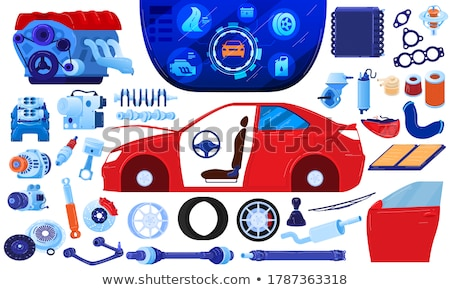 Industry Services on Gear Shift. Stock photo © tashatuvango