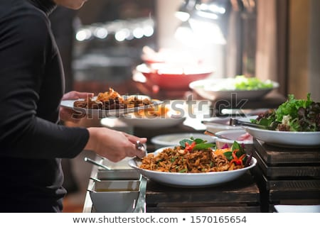 vendéglátás · szolgáltatás · modern · étel · előétel · események - stock fotó © Ainat