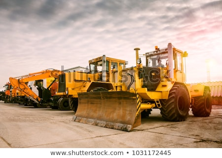 Construção equipamento maquinaria carro rodas Foto stock © OleksandrO