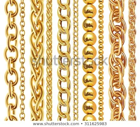 Gouden keten abstracte vorm illustratie sieraden mode Stockfoto © smeagorl