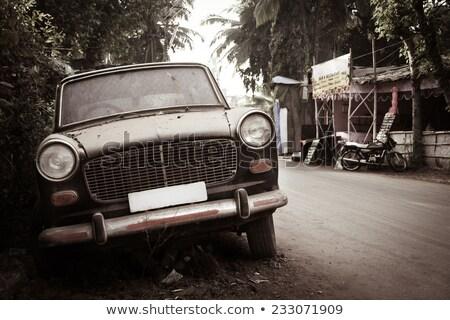 汚い 捨てられた 車 インド 道路 アジア ストックフォト © Juhku