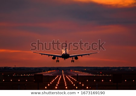landing airplane stock photo © ssuaphoto