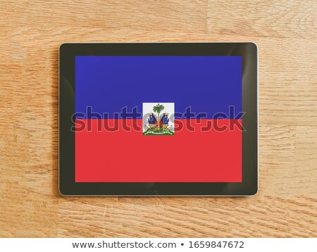 Tablet with Haiti flag Stock photo © tang90246