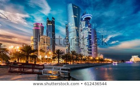 флаг · Катар · путешествия · силуэта · диаграммы · рисунок - Сток-фото © istanbul2009