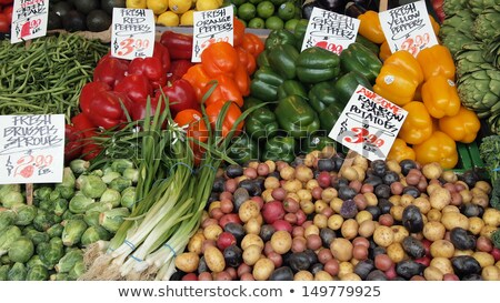 Fresh vegetables  Brussels sprouts farmers market . Stock photo © mcherevan