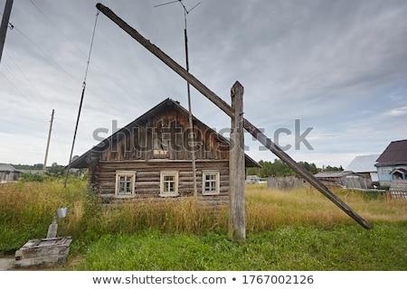 eski · ahşap · çekmek · tarihsel · ülke · iyi - stok fotoğraf © aikon
