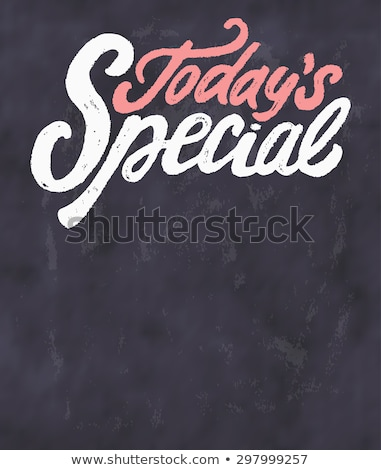 Today specials on black board  Stock photo © fuzzbones0