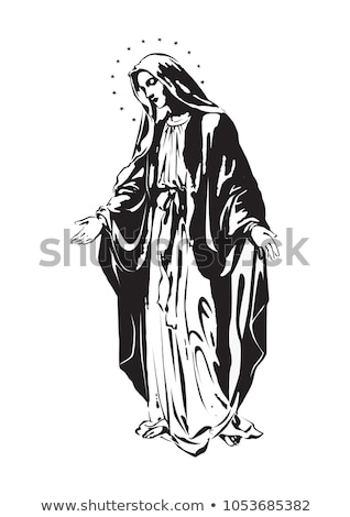 девственница иллюстрация вектора Сток-фото © derocz