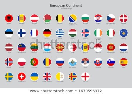 3D · placa · bandera · Europa · estrellas - foto stock © shutswis