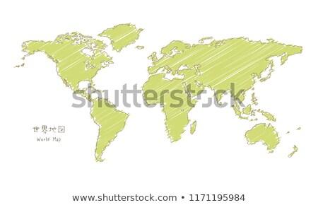 doodle · kaart · icon · zwart · wit · symbool · frame - stockfoto © ojal