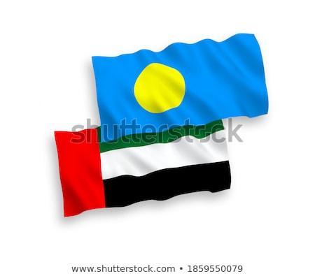 Egyesült Arab Emírségek Palau zászlók puzzle izolált fehér Stock fotó © Istanbul2009