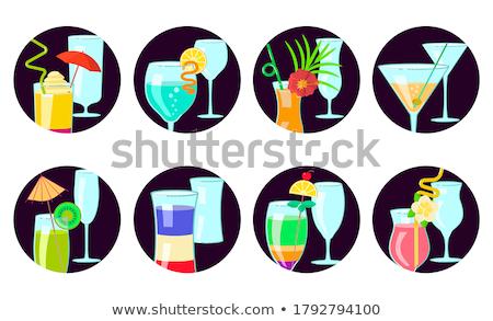 contemporanea · cocktail · menu · modello · disegni · cocktail - foto d'archivio © netkov1