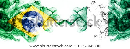 Brazil and Nigeria Flags Stock photo © Istanbul2009