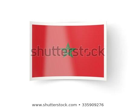 Ikon zászló Marokkó izolált fehér vidék Stock fotó © MikhailMishchenko