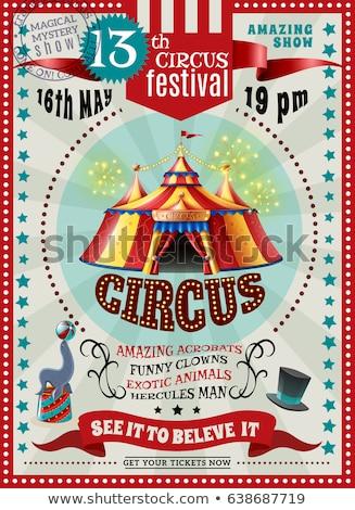 весело красный цирка плакат большой копия пространства Сток-фото © tintin75