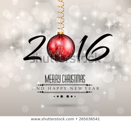 2016 Happy New Year and Merry Christmas Background for your seasonal wallpapers Stock photo © DavidArts
