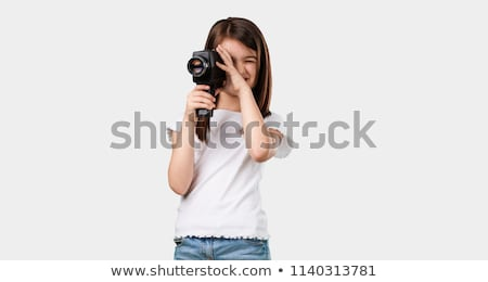 child with camcorder Stock photo © Paha_L