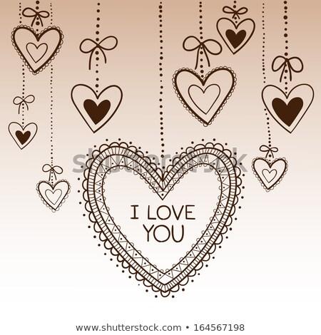 Szív értékes keret ajándék valentin nap izolált Stock fotó © orensila