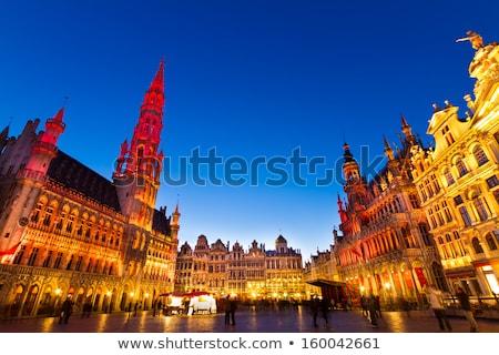 Bruselas principal cuadrados ciudad sala noche Foto stock © dinozzaver