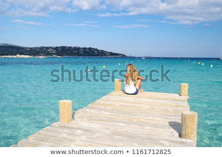 Personnes plage corse soleil Photo stock © Joningall