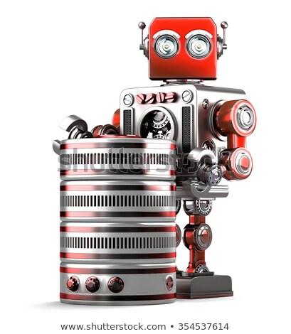3D robot database tecnologia isolato Foto d'archivio © Kirill_M