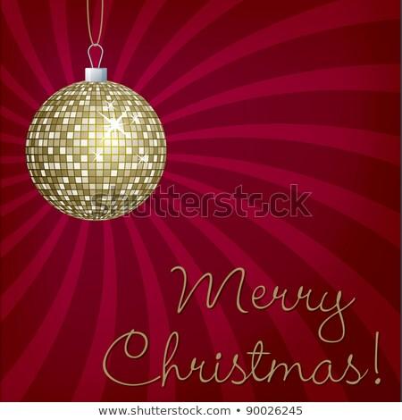 kalk · groene · christmas · vector · formaat · bal - stockfoto © piccola