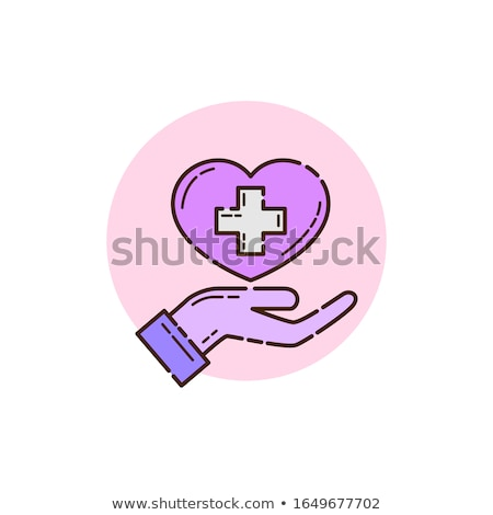 Hand and medicine icon. Health care and medical help icon. Healt Stock photo © chatchai5172