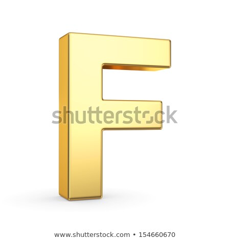 The letter F as a polished golden object with clipping path Stock photo © creisinger