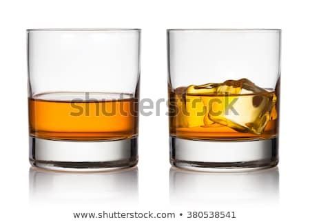 Vidrio whisky hielo rocas fondo beber Foto stock © alex_l