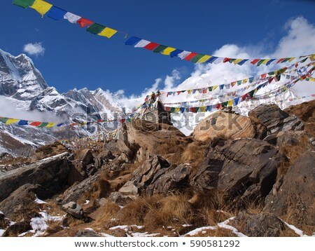 Prayer flags in Bhutan Stock photo © TanArt