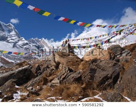 gebed · vlaggen · Bhutan · wind · vlag · Rood - stockfoto © TanArt