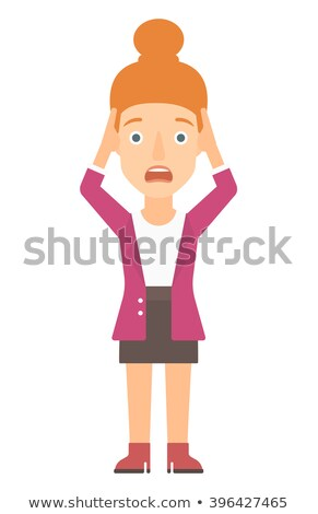 Woman clutching her head in desperate. Stock photo © RAStudio