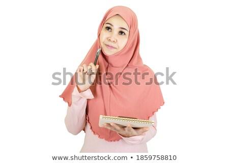 kaukasisch · zakenvrouw · sjaal · werk · model - stockfoto © zurijeta