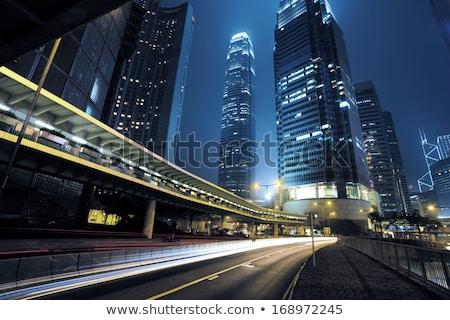 Viajar sinaleiro noite cidade céu negócio Foto stock © FrameAngel