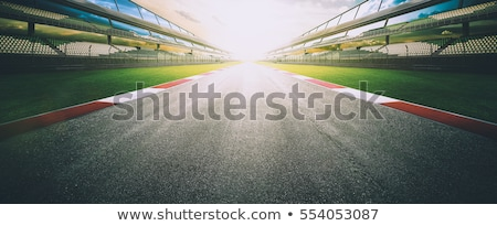 Raça estrada condução vazio Foto stock © ssuaphoto