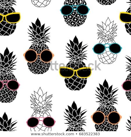 ананаса · фрукты · Солнцезащитные · очки · цвета · лет · искусства - Сток-фото © cienpies