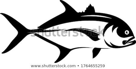 巨人 実例 海 背景 口 暗い ストックフォト © bluering