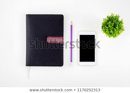 Schema notepad business agenda leder top Stockfoto © stevanovicigor