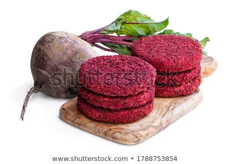 kahvaltı · vegan · Burger · simit · domates · avokado - stok fotoğraf © m-studio