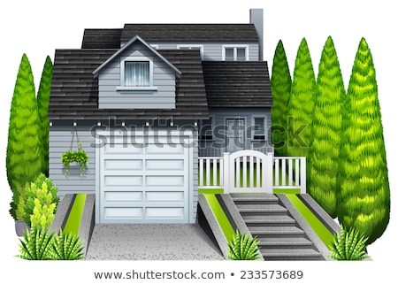 A big residential house with plants Stock photo © bluering