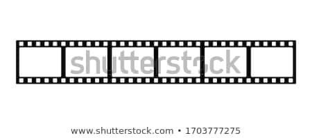 Bande de film réflexion blanche film film vidéo Photo stock © m_pavlov