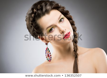 woman with disc coiffure stock photo © seenad