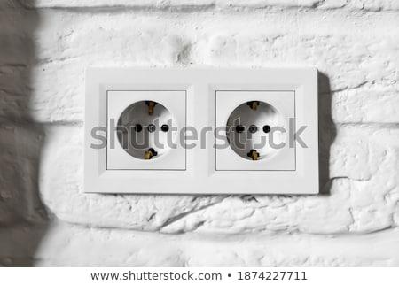noir · clip · vieux · bois · panneau - photo stock © fuzzbones0