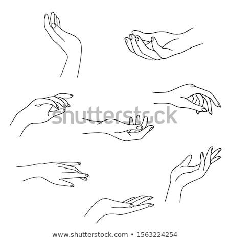 Handen manicure schoonheid ondiep focus hand Stockfoto © jordanrusev