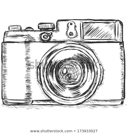 caméra · vidéo · croquis · icône · web · mobiles · infographie - photo stock © rastudio