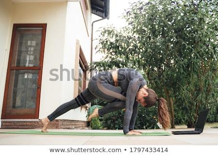 колено носа йога класс фундаментальный Сток-фото © kentoh