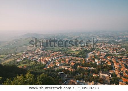 Második torony San Marino Olaszország tájkép fa Stock fotó © goce